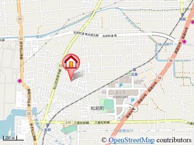 【地図】グランドソレーユⅡ