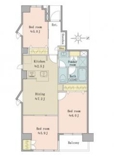 新規内装リノベーション済、眺望良好な9階の東南角部屋です