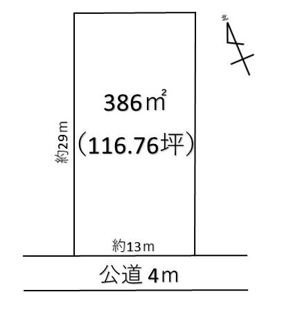 【土地図】熊谷市三ヶ尻 1420万 土地