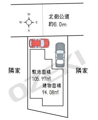 【区画図】蒲生東町4LDK