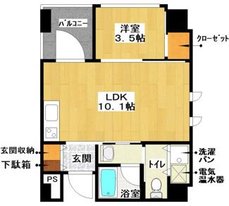 アワジアパートメントアイ 402号室