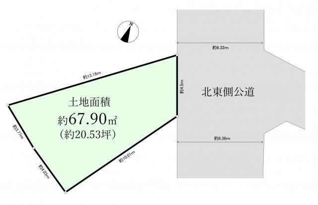 【土地図】中野区南台5丁目  限定1区画