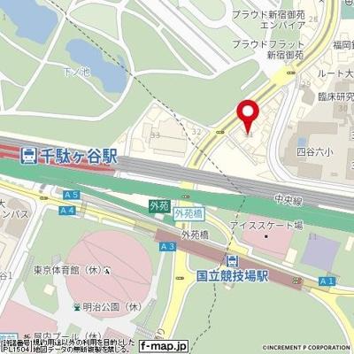 【地図】ヴイツプ新宿御苑