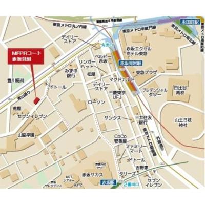 【地図】MFPRコート赤坂見附