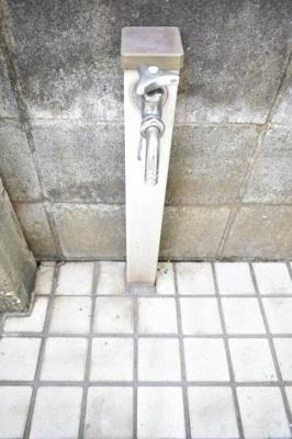 散水栓があります。