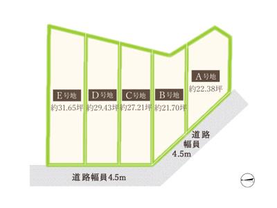 【区画図】マザーハーツ中川東2丁目 D区画