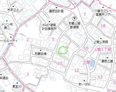【地図】那覇市上間土地