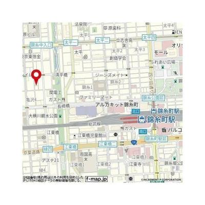 【地図】スパシエ・エル錦糸町