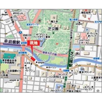 【地図】NBF芝公園ビル インターレジデンス