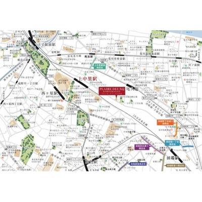 【地図】プレール・ドゥーク上中里