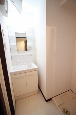 シャンプードレッサー洗面台と洗濯パン