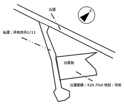 【土地図】売土地 岡崎市夏山町字椋ノ木