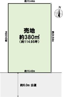 【土地図】旦島3丁目 建築条件なし売地