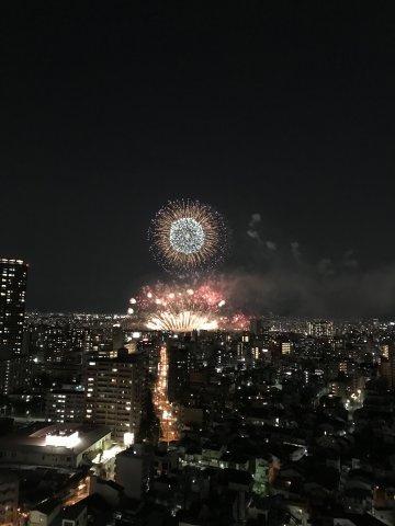 【物件からの眺望】贅沢なひと時!住戸から淀川花火大会鑑賞できます♪