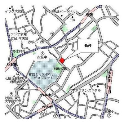 【地図】パークアクシス六本木檜町公園