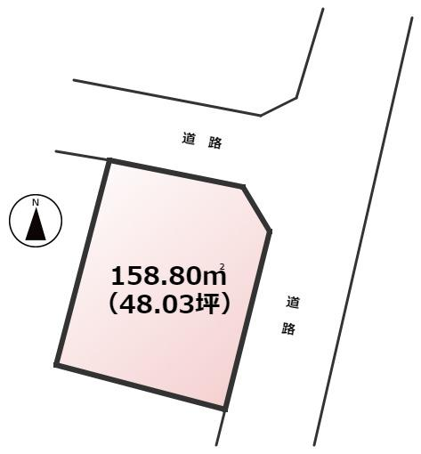 【土地図】東区美和台1丁目土地