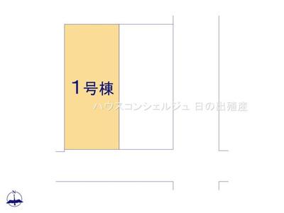 【区画図】名古屋市中村区角割町3丁目15-1【仲介手数料無料】新築一戸建て
