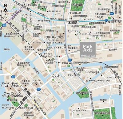 【地図】パークアクシス木場キャナルイースト