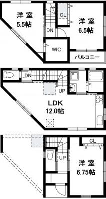 【土地図+建物プラン例】中央区神若通5丁目 土地