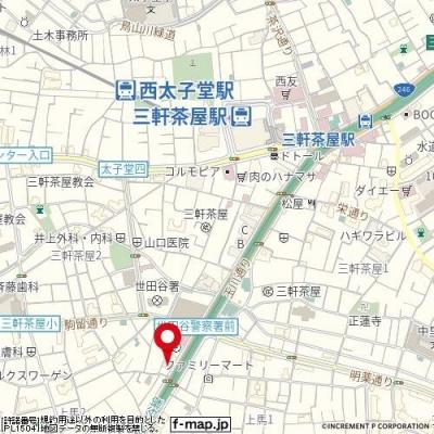 【地図】ステージファースト三軒茶屋アジールコートⅡ