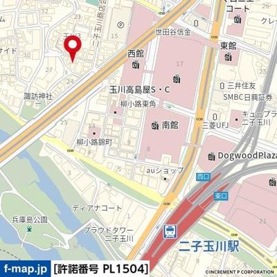 【地図】ハイシティ二子玉川