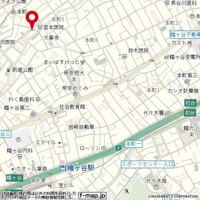 【地図】ダイホープラザ幡ヶ谷