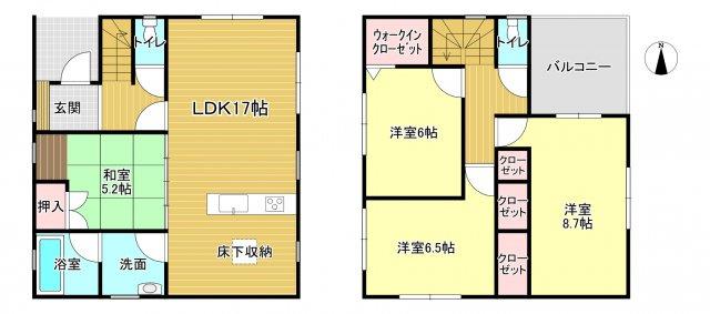 香芝市今泉第3 新築(全4棟)1号棟