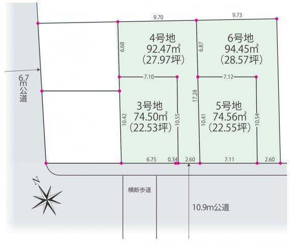 【土地図】仲介手数料無料 杉並区宮前2丁目建築条件付売地