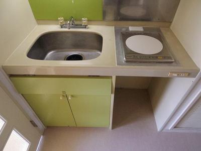 お掃除楽々な「IHキッチン」です。