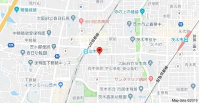 【地図】中条プレイス