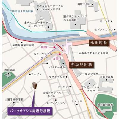 【地図】パークオアシス赤坂丹後坂