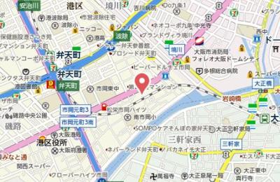 【地図】フォーリアライズ大阪ウエストベイ
