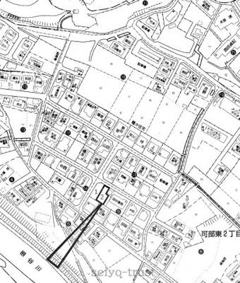 【区画図】安佐北区可部東2丁目