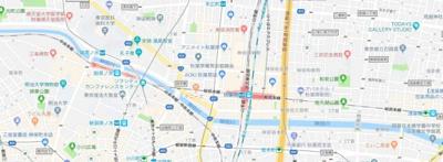 【地図】ラ・グラースダイヤモンドマンション秋葉原