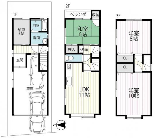 即入居OK♪全居室6帖以上3SLDK♪駐車2台可能♪周辺施設充実♪城陽市久世芝ケ原