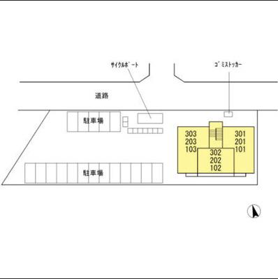 【区画図】コンフォート・ヤマト
