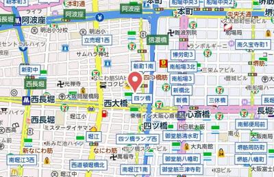 【地図】アンビエンテ四ツ橋