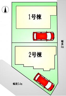【区画図】調布市八雲台1丁目 新築一戸建て