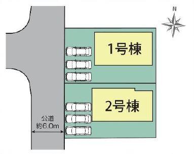 2号棟 カースペース2台以上可能です。お近くの完成物件をご案内いたします(^^)/住ムパルまでお電話下さい!