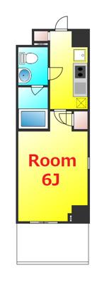 お部屋とキッチンが別々で使い勝手の良い1Kタイプ。
