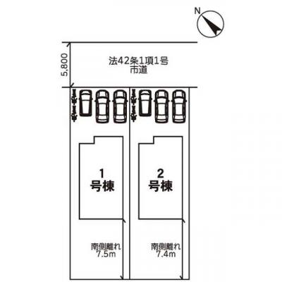 【区画図】リナージュ小山市八幡町20-1期 新築一戸建て
