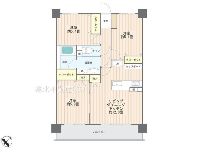 【間取り】ライオンズマンション大泉学園第7