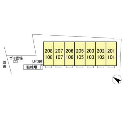 【区画図】プレジールヤストシ