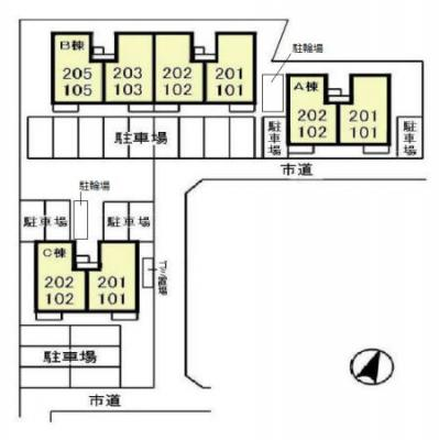 【区画図】ピュアタウン南逆井 B