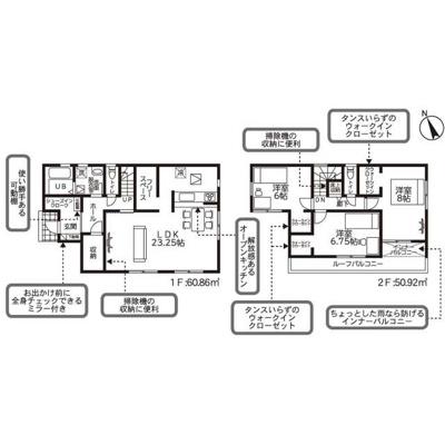 【区画図】リナージュ小山市神鳥谷20-1期 新築一戸建て