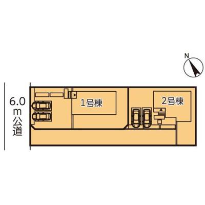 【区画図】リーブルガーデン第13野木丸林 新築一戸建て