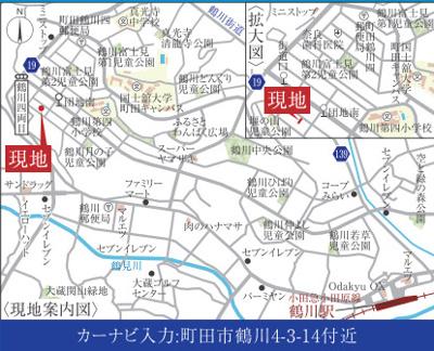 【地図】【仲介手数料無料!】町田市鶴川4丁目 新築戸建て