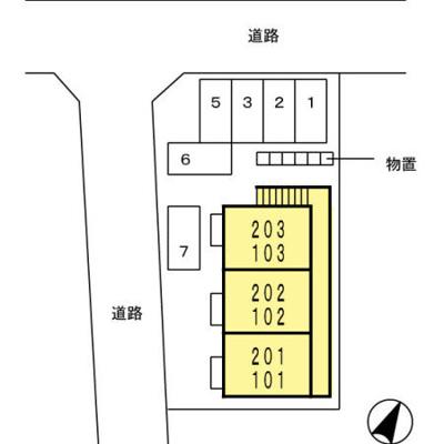 【区画図】ジュネス辰野