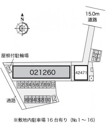 【区画図】レオパレス仙北駅前
