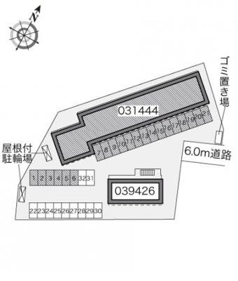 【区画図】レオパレス第2仙北駅前